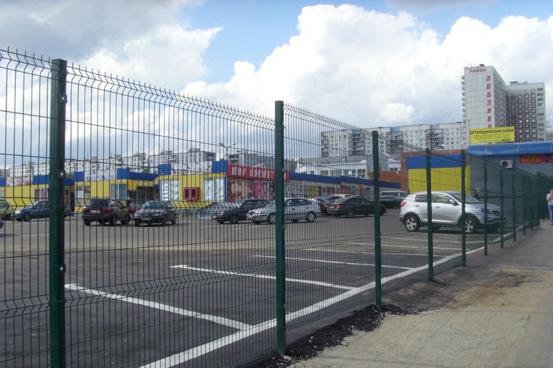 3д забор для парковок торговых центров