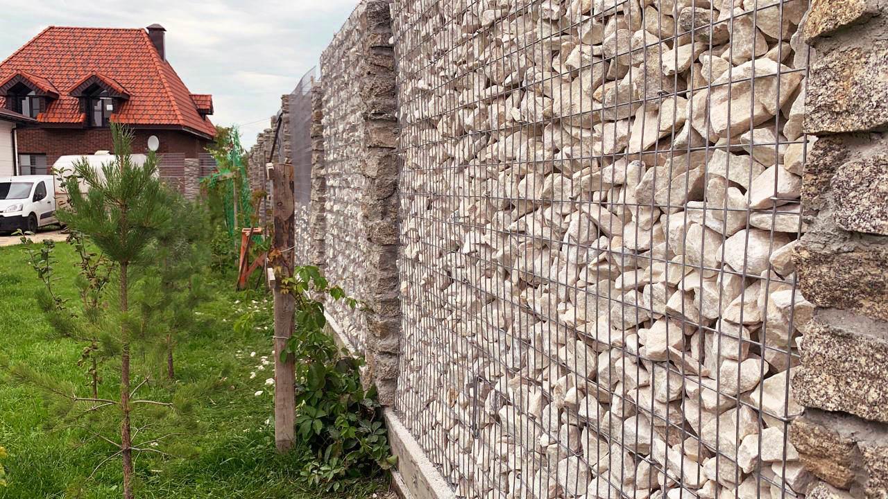 габионный забор в Екатеринбурге